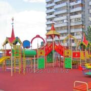 Строительство детских игровых площадок фото