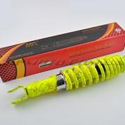 Амортизатор GY6, DIO, LEAD 290mm, регулируемый NDT лимонный +паутина фото