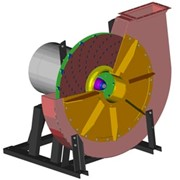 Центробежный вентилятор высокого давления ВПЗ 1,0/1100. Производительность 1000 м3/час. Повышение давления 10,784 кПа. Потребляемая мощность 9,1 кВт. Частота вращения 2900 об/мин. Масса 280 кг. фото