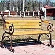 Скамейка кованая СК-4 фото