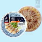 Сельдь атлантическая филе-кусочки в масле с пряностями фото