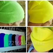 Шапки удлиненные (шапки-бини) осенние/весенние, вязаные, молодежные фото