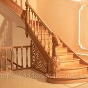 Лестница с резьбой фото