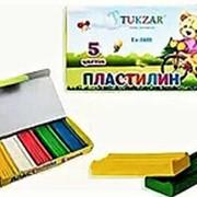 Пластилин 148691 Tukzar Tz 1601 цветной ( 5 цветов ) для лепки ( 1 уп.) фото