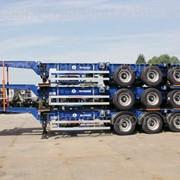 Универсальный усиленный полуприцеп контейнеровоз компании Grunwald фото