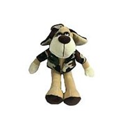 TEDDY Собака в камуфляжном костюме, 15см (YSL18778) фото