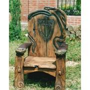Мебель резная на заказ, мебель резная под старину, мебель резная авторская, кресло резное на заказ фото