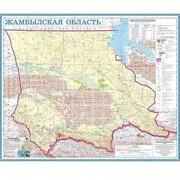 Карта областная Жамбылская, масштаб 1:1 000 000, 550*660 мм, не ламинированная фото
