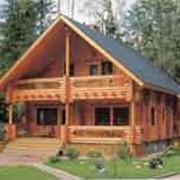 Дом из оцилиндрованной древесины фото