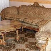 Комплект барокко Италия с ониксовым столиком фото