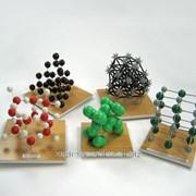 Универсальный набор кристал.решеток алмаза,графита, оксида углерода, поваренной соли,йода, льда,оксида кремния,меди фото