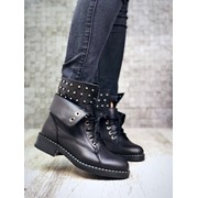 Женские ботинки на натуральном мехе с декором. ДС-38-1118 фото