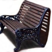 Чугунная скамейка Из-5а фото
