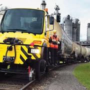 UNIMOG (Унимог) Локомобиль для прицепного веса до 1000 тонн. Мотовоз, маневровый, тяговый модуль вагонов фото