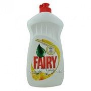 Средство для мытья посуды Fairy 500ml. Sensitive Chamomille & Vit.E, Sensitive Tea Tree & Mint, Lemon, Apple. фото