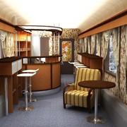 Мебель вагона-ресторана фото
