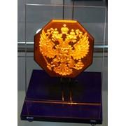 Сувенир голографический с подсветкой настольный Герб России фото