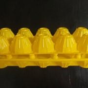 """Пластиковый контейнер для яиц П-12 """"Десятка"""" желтый фото"""