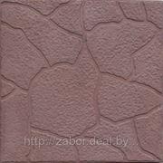 Тротуарная плитка (черепашка коричневая 300х300х30)