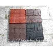 Плитка тротуарная «Шашка» Красная 300х300х30 фото