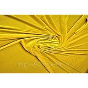 Бархат-стрейч темно - желтый фото
