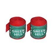 Бинт боксерский Green Hill BC-6235a 2,5м х/б красный фото