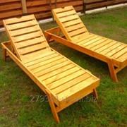 Лежаки-шезлонги деревянный для отдыха 200х60х30 см фото