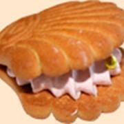 Печенье сахарное с фруктовым суфле фото