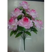 Цветок искусственный 10 цветков блестящих фото