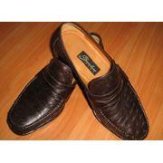 Туфли мужские из кожи страуса фото
