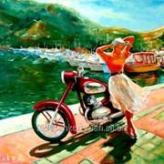 Картина в стиле соцреализм маслом на холсте, Крым фото