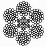 Канат стальной двойной свивки типа ЛК-РО ГОСТ 7669-80 DIN 3064 6х36 (1+7+7/7+14)+7х7(1+6) фото