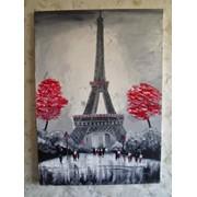 Картина написанная маслом Дождливый Париж фото