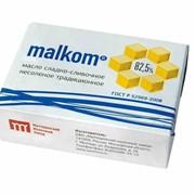 Масло сладко-сливочное несоленое malkom Традиционное, 82,5 фото