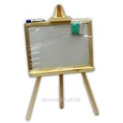 Доска для рисования (мольберт)на 3- ноге малая 48*35 двосторонняя немагнитная. Смерека. арт М324835 фото