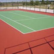 Укладка спортивных покрытий для игровых площадок фото