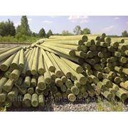 Опора ЛЭП ГОСТ деревянная пропитанная 11 м фото