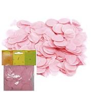 Конфетти бумажное Круги розовые 2,5см 14гр фото