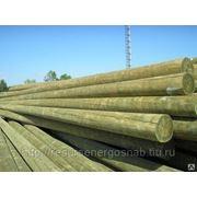 Опора ЛЭП деревянная пропитанная 9,5 м фото