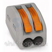 Клемма универс. 2-проводн (0,08-2,5 (4) мм2) 222-412 50шт WAGO фото