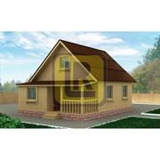 Дом из бруса Проект №13 (6х8) фото