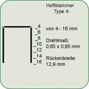Скоба тип А (8000 шт/кор), размер 12 мм. фото