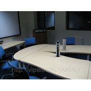 Встраиваемая в стол колонна с розетками EVOLINE, розетки в стол. фото