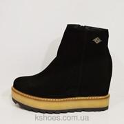 Женские ботинки черные Selesta 6247 фото
