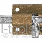Задвижка накладная для окон и мебели ШП-50 КМЦ, цвет коричневый металлик/цинк, 50мм Код:37753-50 фото