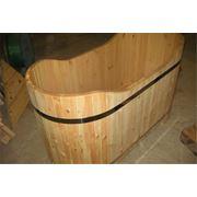 Ванны деревянные из дуба сосны ясеня фото