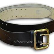 Ремень поясной кожаный черного цвета для ОС фото