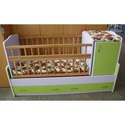Кроватки детские из цветного ламината фото