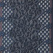 Кружево эластичное, цв. серо-синий, шир. 16,5 см фото