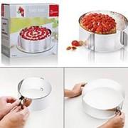 Раздвижная форма для выпечки кольцо трансформер 16-30 см фото